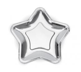 """Lėkštutės """"Sidabro žvaigždė"""", forminės (6 vnt./23 cm)"""
