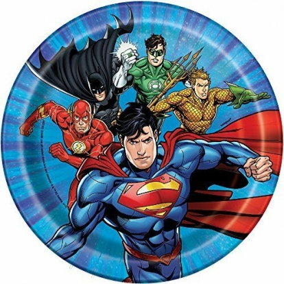 """Lėkštutės """"Superherojai"""" (8 vnt./17 cm)"""
