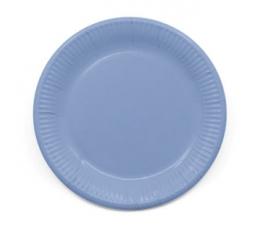 Lėkštutės, švelniai mėlynos (8 vnt./23 cm) kompostuojamos