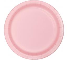 Lėkštutės, švelniai rožinės (24 vnt./17 cm)