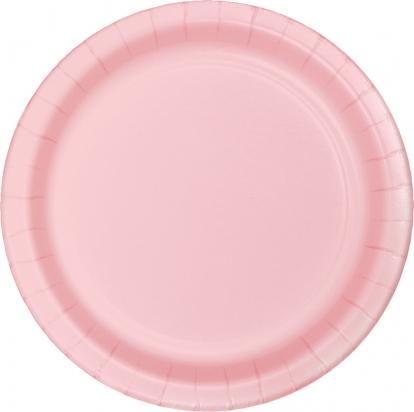 Lėkštutės, švelniai rožinės (8 vnt./17 cm)