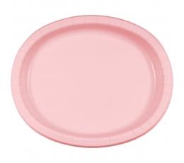 Lėkštutės,  švelniai rožinės ovalios (8 vnt./30cm)