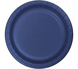 Lėkštutės, tamsiai mėlynos (20 vnt./17 cm)