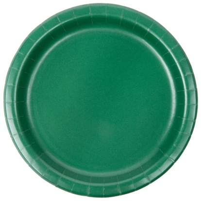 Lėkštutės, tamsiai žalios (24 vnt./18 cm)
