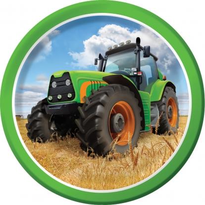 """Lėkštutės """"Traktoriai"""" (8 vnt./18 cm)"""