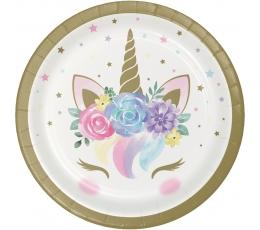 "Lėkštutės ""Unicorn Baby"" (8 vnt./17 cm)"