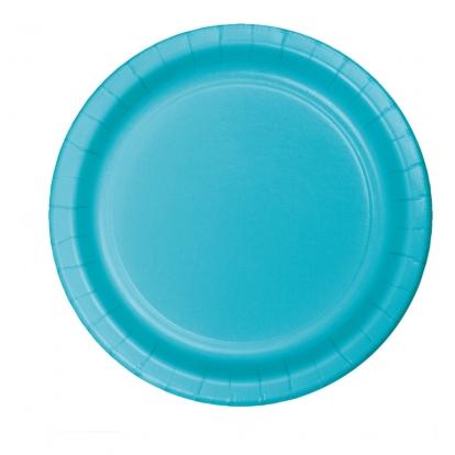 Lėkštutės, vandenyno spalvos (8 vnt./22 cm)