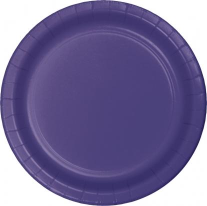 Lėkštutės, violetinės (8 vnt./17cm)