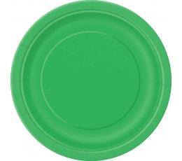 Lėkštutės, žalios (8 vnt./17 cm)