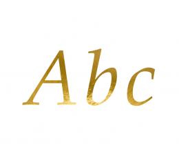 """Lipdukų rinkinys """"Raidės"""", auksinis (143 vnt./21x29 cm)"""