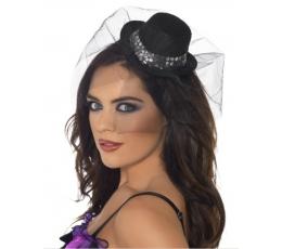 Maža skrybėlaitė-lankelis su tiuliu (1 vnt.)