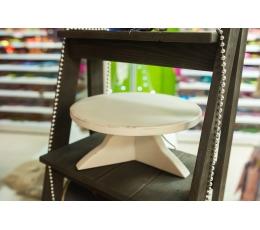 (NUOMA) Medinė tortinė, balta (30 cm)