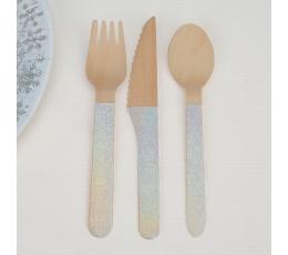 Mediniai stalo įrankiai, perlamutriniai (8-iems)