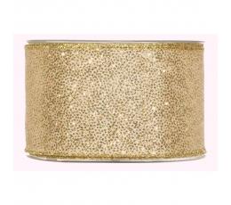 Medžiaginė juostelė, auksinė blizgi (63 mm. x 10 m.)