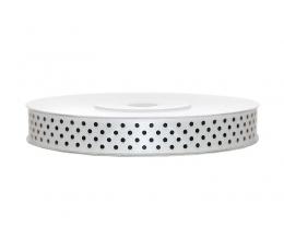 Medžiaginė juostelė/balta su taškeliais (12mm./25m.)