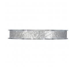 Medžiaginė juostelė,blizganti sidabrinė (13 mm. x 20 mm.)