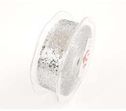 Medžiaginė juostelė /Blizgantis sidabras (25 mm. x 20 m.)
