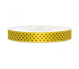 Medžiaginė juostelė/geltona su tašk. (12mm./25m.)