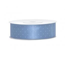 Medžiaginė juostelė,mėlyna su taškeliais (25mm./25m.)