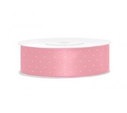 Medžiaginė juostelė/rožinė su taškeliais (25mm./25m.)
