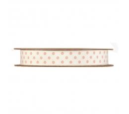 """Medžiaginė juostelė """"Rožiniai taškeliai"""" (15 mm x 20 m)"""