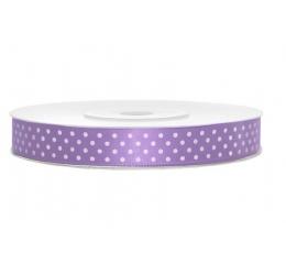 Medžiaginė juostelė/violetinė su tašk. (12mm./25m.)