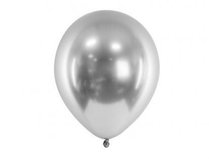 Metalizuotas balionas, sidabrinis (30 cm)