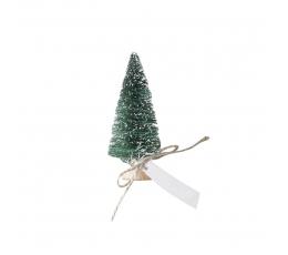 """Mini dekoracijos-vardų kortelės """"Žalios Kalėdų eglės"""" (6 vnt,)"""