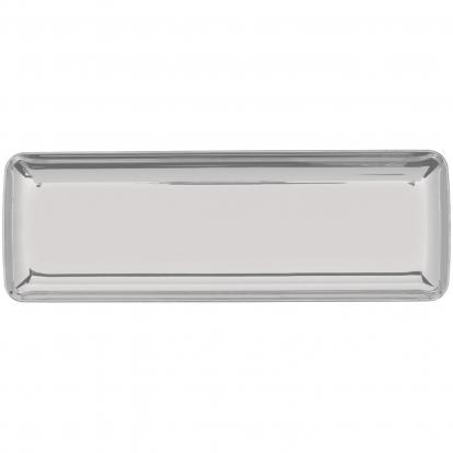Mini padėkliukai, sidabriniai (10 vnt./6,5x19 cm)