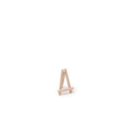 Mini stovelis-molbertas, medinis (10 cm)