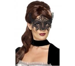 Nėriniuota veido kaukė, juoda
