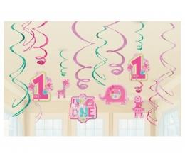 """Pakabinama dekoracija """"Mergaitei 1- eri"""" (12 vnt.)"""
