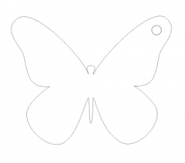 Palinkėjimų drugelis, balti (20 vnt.)