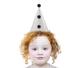 """""""Party Hats with pom-poms, beige, 1pack"""" 1"""