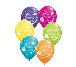 """Balionai """"Su gimimo diena!"""" / įvairiaspalviai (25 vnt./28 cm. Q11)"""