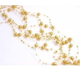 Perliukų dekoracija, auksinė (5vnt./1,3 m.)