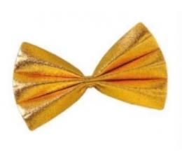 Peteliškė / blizgi auksinė (1 vnt./3 cm. x 7.5 cm.)