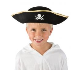 Pirato kepurė su auksiniu krašteliu