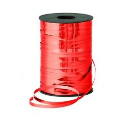 Plastikinė juostelė, metalizuota raudona (5 mm. X 250 m.)