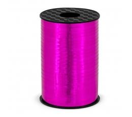 Plastikinė juostelė, ryškiai rožinė blizgi (5 mm/225 m)