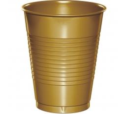 Plastikiniai puodeliai, auksiniai (20 vnt.)