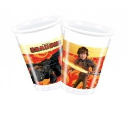 """Plastikiniai puodeliai """"Slibinas"""" (8 vnt./200 ml)"""
