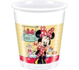 """Plastikiniai puodeliai """"Pelytė Minės kavinė"""" (8 vnt./200 ml)"""
