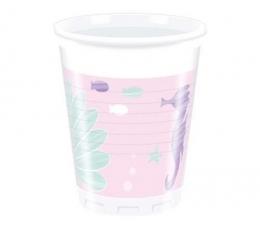 """Plastikiniai puodeliai""""Undinėlė"""" (8 vnt./200 ml.)"""