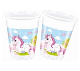 """Plastikiniai puodeliai """"Vienaragiai"""" (8 vnt./200 ml.)"""