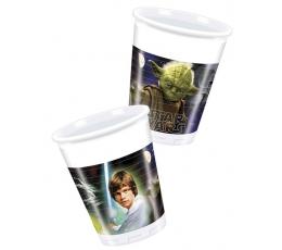 """Plastikiniai puodeliai """"Žvaigždžių karai"""" (8 vnt./200 ml.)"""