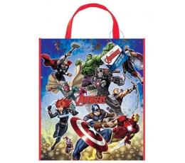 """Dovanų maišelis """"Avengers"""", plastikinis  (33x28 cm)"""