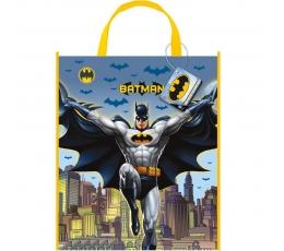 """Plastikinis dovanų maišelis """"Batmenas"""" (1 vnt./33x27.5 cm)"""