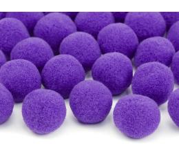 Pliušiniai burbuliukai-dekoracijos, violetiniai (2 cm/20 vnt.)