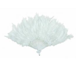 Plunksnų vėduoklė, balta (43 cm)